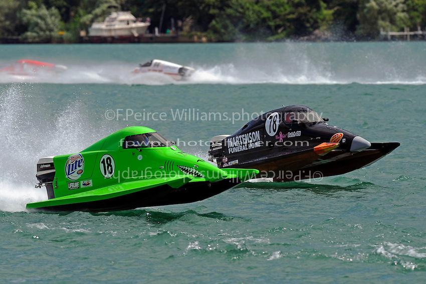 26  July, 2009, Trenton, Michigan USA.Jason Nelson (#18) and Butch Ott (#78).©2009 F.Peirce Williams USA.SST-45 class