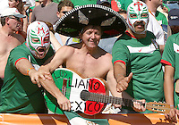 Mexican Fans. Mexico defeated Iran 3-1 during a World Cup Group D match at Franken-Stadion, Nuremberg, Germany on Sunday June 11, 2006.