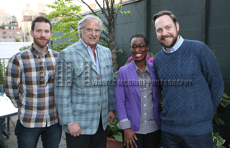 Matt Dickson, Stewart F. Lane, Martine Sainvil and Moritz von Stuelpnagel attend The Drama League: Meet The Directing Fellows Hosted By Stewart F. Lane & Bonnie Comley at a private residence on May 15, 2017 in New York City.