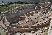 Grave Circle A, Mycenae, c. 16th century BC. Mycenae, Pelopennese, Greece, a hill top citadel which was the most important place in Greece from c. 1600 to c. 1100 BC. It was first completely excavated 1874-78 by Heinrich Schliemann, 1822-90