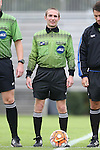 04 October 2015: Referee Mathew Richardson. The Duke University Blue Devils hosted the Virginia Tech Hokies at Koskinen Stadium in Durham, North Carolina in a 2015 NCAA Division I Women's Soccer match. Virginia Tech won the game 4-2.