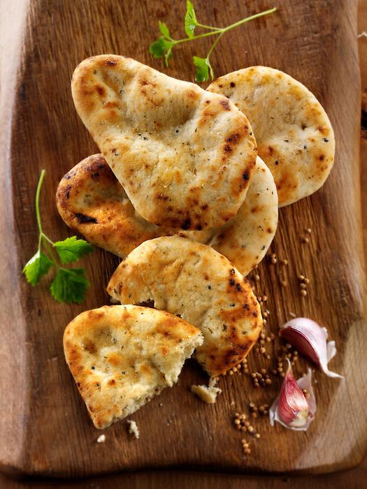 Traditional Indian Food Indian Naan Bread Food