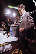 Montreal, Canada, May20 1980. Claude Ryan,  (January 26, 1925 - February 9, 2004) leader of the Parti Libéral du Québec from 1978 to 1982 deliver his vote during the referendum for the independence of Quebec.