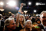 The Republican faithful wait for election results during a GOP victory party for California Governor Arnold Schwarzenegger at the Beverly Hilton in Beverly Hills, CA on Tuesday, November 7, 2006.