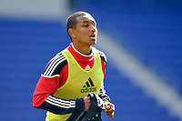 Juan Agudelo (17) of the New York Red Bulls during practice on Media Day at Red Bull Arena in Harrison, NJ, on March 15, 2011.