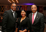 Waterbury, CT 022617MK06 (from left)   Pastor Rodney Wade, Shavonne McLeneton with Munroe Webster (NAACP Mayor's Office) gathered during the Post University Second Annual Black Excellence Ball at the Black Student Union. The event commemorated the second anniversary of the newly revived Post University BSU.   Michael Kabelka / Republican-American