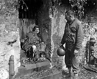This dead German soldier was one of the &quot;last stand&quot; defenders of German-held Cherbourg.  Capt. Earl Topley, who led one of the first outfits into the fallen city, blamed him for killing three of his boys.  France, June 27, 1944.  Zwick.  (Army)<br /> NARA FILE #:  111-SC-193970<br /> WAR &amp; CONFLICT BOOK #:  1050