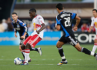 Tony Tchani of Red Bulls in action during the game against the Earthquakes at Buck Shaw Stadium in Santa Clara, California.  San Jose Earthquakes defeated New York Red Bulls, 4-0.