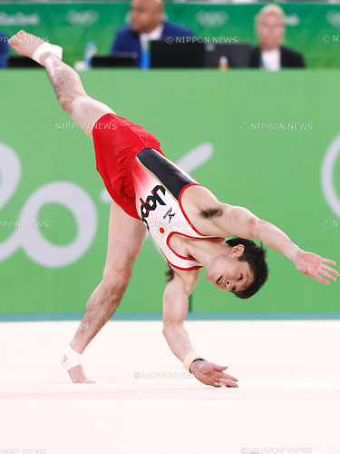 Kohei Uchimura (JPN), <br /> AUGUST 8, 2016 - Artistic Gymnastics : <br /> Men's Final  <br /> Floor Exercise <br /> at Rio Olympic Arena <br /> during the Rio 2016 Olympic Games in Rio de Janeiro, Brazil. <br /> (Photo by Sho Tamura/AFLO SPORT)