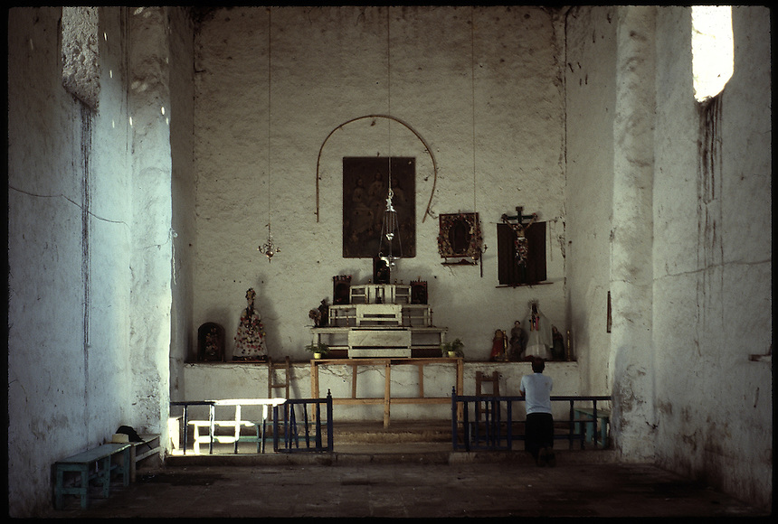 An old Cora Indian Church in the Sierra M¿adre Occidental, Nayarit, Mexico