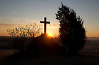 January 15, 2012; Sunrise at Gethsemani. The University of Notre Dame Folk Choir held a concert for the Monastic and local community during their 2012 retreat at The Abbey of Gethsemani, Trappist, Kentucky. Photo by Barbara Johnston/University of Notre Dame