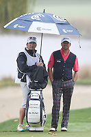 12/02/12 Thousand Oaks, CA: Graeme McDowell and caddie Ken Comboy during the final round of the 2012 World Challenge presented by Northwestern Mutual by 3 strokes over Keegan Bradley . Held at the Sherwood Country Club.