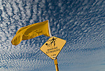 Warning sign for marine stingers on North Queensland beach