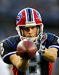 3 September 2009:  Buffalo Bills' punter Brian Moorman takes practice on the sidelines during a pre-season game against the Detroit Lions at Ralph Wilson Stadium in Orchard Park, New York. The Lions defeated the Bills 17-6...Mandatory Photo Credit: Ed Wolfstein Photo