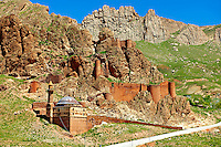 Ancient hill fort next to the  the Ishak Pasha Palace (Turkish: İshak Paşa Sarayı) ,  Ağrı province of eastern Turkey.