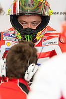Valentino Rossi in Boxes