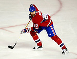 17 October 2009: Montreal Canadiens defenseman Paul Mara in action against the Ottawa Senators at the Bell Centre in Montreal, Quebec, Canada. The Senators defeated the Canadiens 3-1. Mandatory Credit: Ed Wolfstein Photo