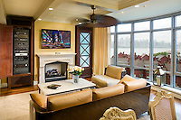 Apartment Media Room with a View