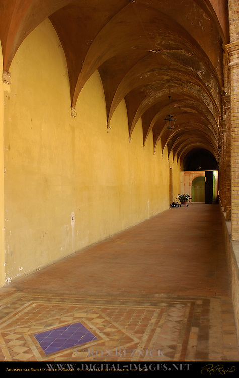 Hospital Santo Spirito in Sassia Groin-vaulted Colonnade founded 1200 Sistine Lane Rome