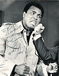"Muhammad Ali Cassius and Marcellus Clay Jr American boxer and three time World Heavyweight Champion greatest heavyweight championship boxer of all time, 1960 Summer Olympics light heavyweight gold medal, Nicknamed ""The Greatest,"" Muhammad Alie rivals Joe Frazier and George Foreman, Alie developed Parkinson's disease later in life,"