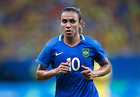 Manaus, Brazil - August 9, 2016:  Brazil tied South Africa 0-0 during their final group game of the 2016 Olympic games at Amazonia Arena.