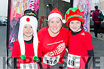 Danny, Deirdre and Jack Collins at the Killorglin Jingle Run on Saturday morning