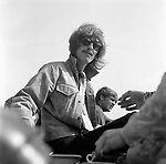 Beatles 1967 George Harrison during filming of the Magical Mystery Tour has afternoon tea at the Atlantic Hotel in Newquay<br /> &copy; Chris Walter