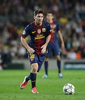 FUSSBALL   INTERNATIONAL   CHAMPIONS LEAGUE   2012/2013      FC Barcelona - Celtic FC Glasgow       23.10.2012 Lionel Messi (Barca) am Ball
