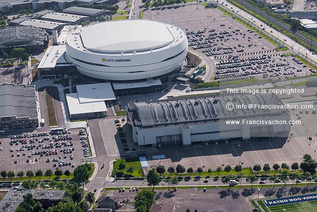 Centre videotron arena aerial photo stock photos by for Centre des impots nice exterieur