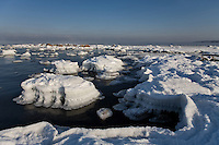 Winter near Türisalu Cliff, Harju County, Estonia, Europe