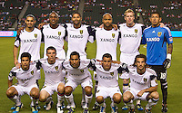 CARSON, CA – August 27, 2011: Real Salt Lake starting line-up during the match between Chivas USA and Real Salt Lake at the Home Depot Center in Carson, California. Final score Chivas USA 0, Real Salt Lake 1.