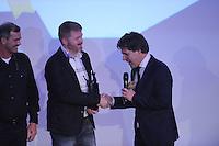 SPORT ALGEMEEN: HEERENVEEN: 17-02-2016, Sportgala Fryslân, SKS-kampioen Dirk Jan Reijenga (Joure) verkozen tot Frysk Sporter 2015, ©foto Martin de Jong