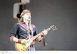Mark knopfler perfoming with his band Dire Straits in the 1980's<br />&copy; David Plastik<br />Credit all uses<br />Retna UK