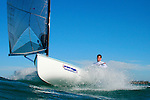 "Charles Benedict ""Ben"" Ainslie, CBE (born 5 February 1977 in Macclesfield) is an English sailor and three-times Olympic gold medalist. He started sailing at the age of 4 and first competed at the age of 10. Ainslie's first international competition was the 1989 Optimist world championships held in Japan where he placed 37th..The son of Roderick 'Roddy' Ainslie, who captained a boat that took part in the first Whitbread Round The World Race in 1973, he won a gold medal at the World Youth Championships in 1995 and was awarded the title of British Yachtsman of the Year in 1995, 1999, 2000 and 2002. He was elected ISAF World Sailor of the Year in 1998 and 2002..Early life.Ainslie attended Peter Symonds College and Truro School in Cornwall..Sailing.Olympic success.Olympic medal record.Competitor for  Great Britain.Sailing.Gold .2008 Beijing .Finn.Gold .2004 Athens .Finn.Gold .2000 Sydney .Laser.Silver .1996 Atlanta .Laser.Ainslie was a gold medalist at the 1993 Laser Radial World Championship, gold medalist at the 1993 Laser Radial European Championship, silver medalist at the 1994 IYRU World Youth Sailing Championship in Marathon, Greece and gold medalist at the 1995 IYRU World Youth Sailing Championship in Hamilton, Bermuda..Ainslie won silver at the 1996 Olympic Games and gold in the 2000 Summer Olympics in the Laser class. He put on 40 pounds (18 kg) and moved to the larger Finn class for the 2004 Summer Olympics, where he won gold, a feat he repeated in the 2008 competition. He was appointed Member of the Order of the British Empire (MBE) in the 2001 New Year Honours after his success in Sydney, and was promoted to Officer of the Order of the British Empire (OBE) in the 2005 New Year Honours following the Athens Games. He was again promoted, to Commander of the Order of the British Empire (CBE) in the 2009 New Year Honours, following the Beijing Games..Americas Cup.At the beginning of 2005 he worked in the role of Tactician in the New Zealand based Team New Zealand"