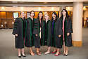 Catherine Nabor, Ariana Nesbit, Christina Pedro, Susanna Thach, Katie Shean, from left. Commencement class of 2013.