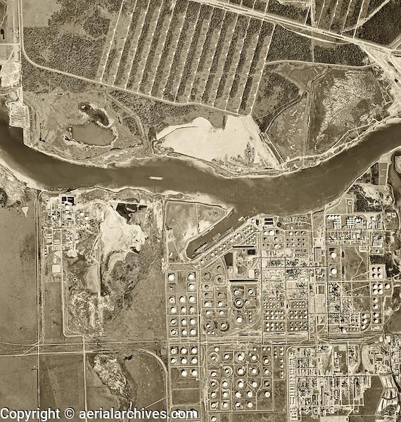historical aerial photograph Port of Houston, Texas, 1966