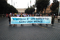 Roma 1 Dicembre 2007.Manifestazione Nazionale contro la privatizzazione dell'acqua..Rome December 1, 2007.National Demonstration against water privatization