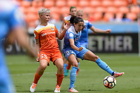 Houston, TX - Saturday April 15, 2017: Janine Van Wyk, Christen Press during a regular season National Women's Soccer League (NWSL) match between the Houston Dash and the Chicago Red Stars at BBVA Compass Stadium.