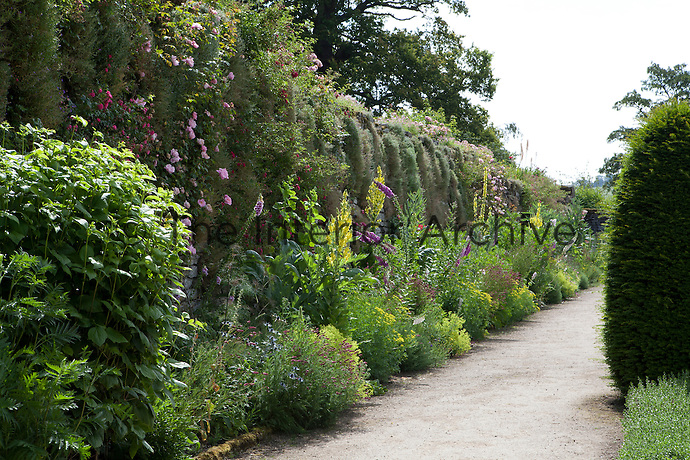 Summer border in the Upper Garden at Haddon Hall