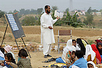 Following an October 8, 2005, earthquake, many school classes were held outdoors because of damaged and dangerous classroom buildings.