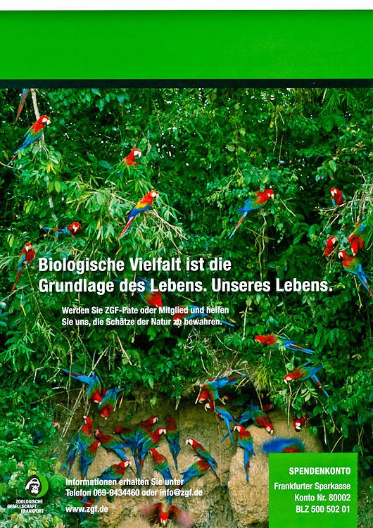 ZGF Magazine, Frankfurt Zoological Society, back cover