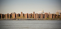 Buildings in Stuyvesant Town and Peter Cooper Village are seen across the East River in New York on Saturday, May 3, 2014. (© Richard B. Levine)