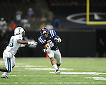 Ole Miss linebacker Denzel Nkemdiche (4) intercepts a pass vs. Tulane's Rob Kelley (28) in the first half at the Mercedes-Benz Superdone in New Orleans, La. on Saturday, September 22, 2012. Ole Miss won 39-0...