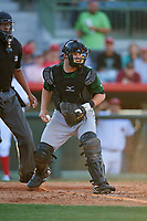 Daytona Tortugas catcher Chris Okey (25) checks the runner during a game against the Florida Fire Frogs on April 6, 2017 at Osceola County Stadium in Kissimmee, Florida.  Daytona defeated Florida 3-1.  (Mike Janes/Four Seam Images)