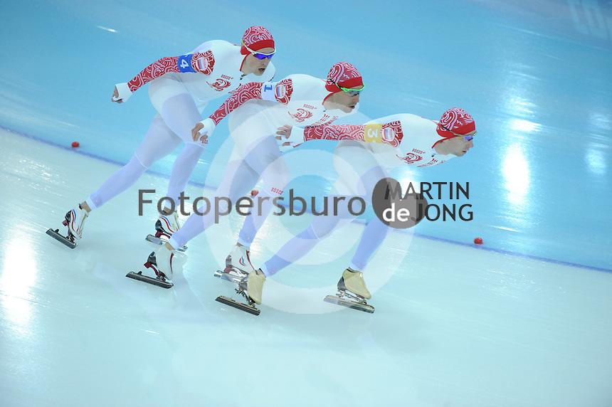 OLYMPICS: SOCHI: Adler Arena, 22-02-2014, Team Pursuit, ©photo Martin de Jong