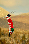 14 January 2005 - Lake Placid, New York, USA - Jacqui Cooper representing Australia, competes in the FIS World Cup Ladies' Aerial acrobatic competition, ranking 5th for the day at the MacKenzie-Intervale Ski Jumping Complex, in Lake Placid, NY. ..Mandatory Credit: Ed Wolfstein Photo.