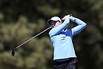 BROWNS SUMMIT, NC - APRIL 01: North Carolina's Lexi Harkins tees off on the 1st hole. The second round of the Bryan National Collegiate Women's Golf Tournament was held on April 1, 2017, at the Bryan Park Champions Course in Browns Summit, NC.