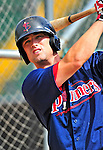 24 July 2010: Lowell Spinners outfielder Bryce Brentz awaits his turn in the batting cage prior to a game against the Vermont Lake Monsters at Centennial Field in Burlington, Vermont. The Spinners defeated the Lake Monsters 11-5 in NY Penn League action. Mandatory Credit: Ed Wolfstein Photo