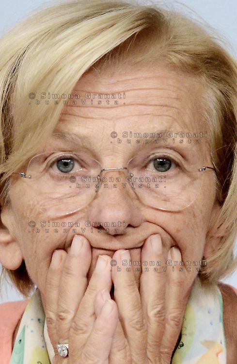 Roma, 23 Agosto 2013<br /> Palazzo Chigi<br /> Conferenza stampa al termine del Consiglio dei Ministri su Pubblica amministrazione e affari esteri.<br /> Nella foto la Ministra degli esteri Emma Bonino