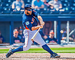 1 March 2017: Houston Astros designated hitter Evan Gattis in Spring Training action against the Miami Marlins at the Ballpark of the Palm Beaches in West Palm Beach, Florida. The Marlins defeated the Astros 9-5 in Grapefruit League play. Mandatory Credit: Ed Wolfstein Photo *** RAW (NEF) Image File Available ***